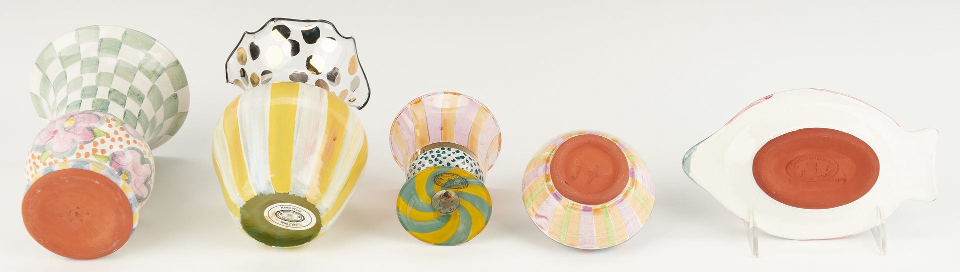 Lot 895: 16 Mackenzie-Childs Ceramic, Glass & Other Items