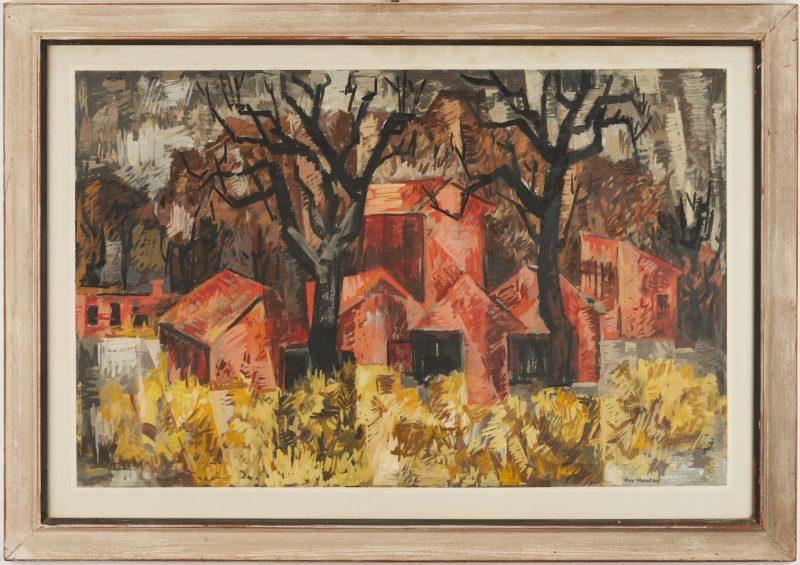 Lot 898: Guy Maccoy Autumn Landscape Painting