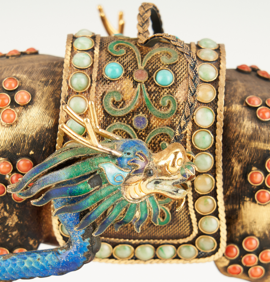 Lot 8: Chinese Filigree and Enamel Carriage