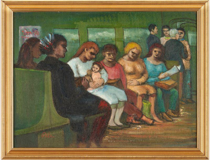 "Lot 900: Albert Pels O/B Painting, Subway on the ""EL"" Track"