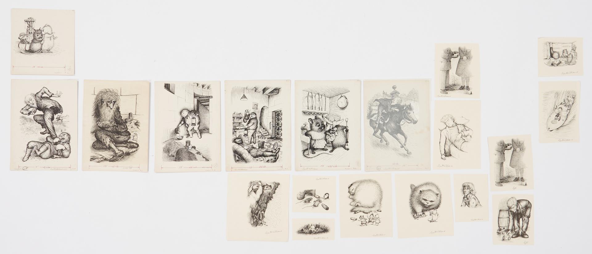 Lot 901: Garth Williams Archive of The Rescuers Books Illus., 87 items