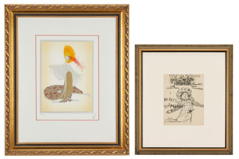 Lot 903: Framed Erte Print and Pierre Bonnard Opera Program