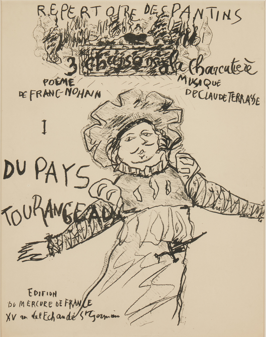 Lot 903: Framed Erte Print and Pierre Bonnard Opera Program