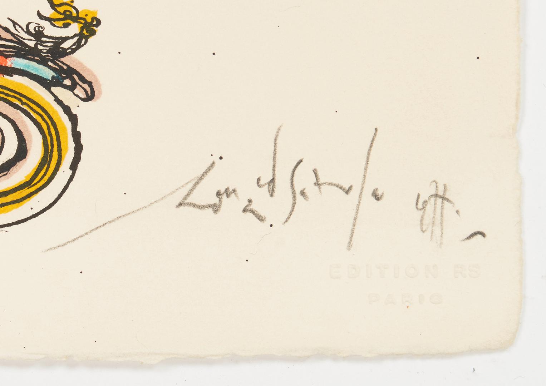 "Lot 907: Ronald Searle Signed Litho, ""Rat Race"""