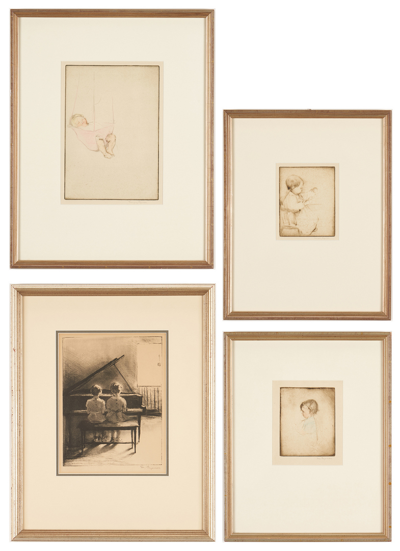 Lot 910: 8 Margery Ryerson Prints, Drypoints & Lithographs