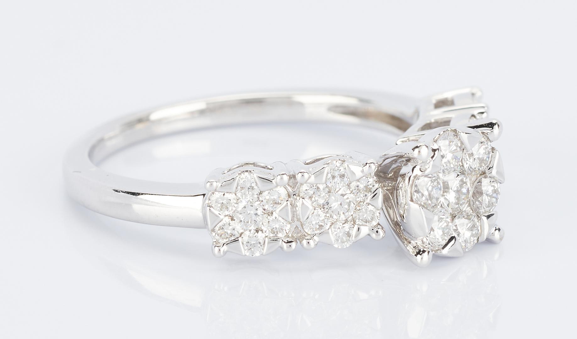 Lot 913: Gold & Diamond Ring w/ Sterling Diamond Bracelet