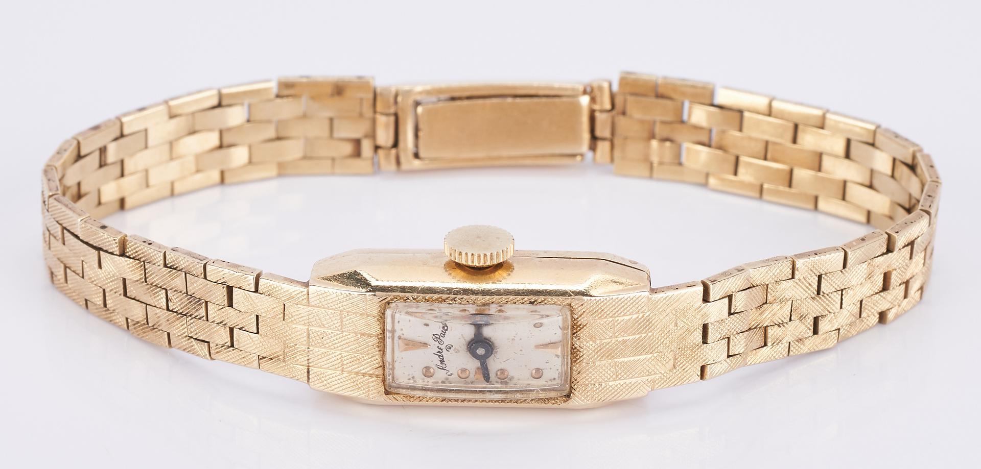 Lot 916: Ladies 14K Andre Pailet Watch