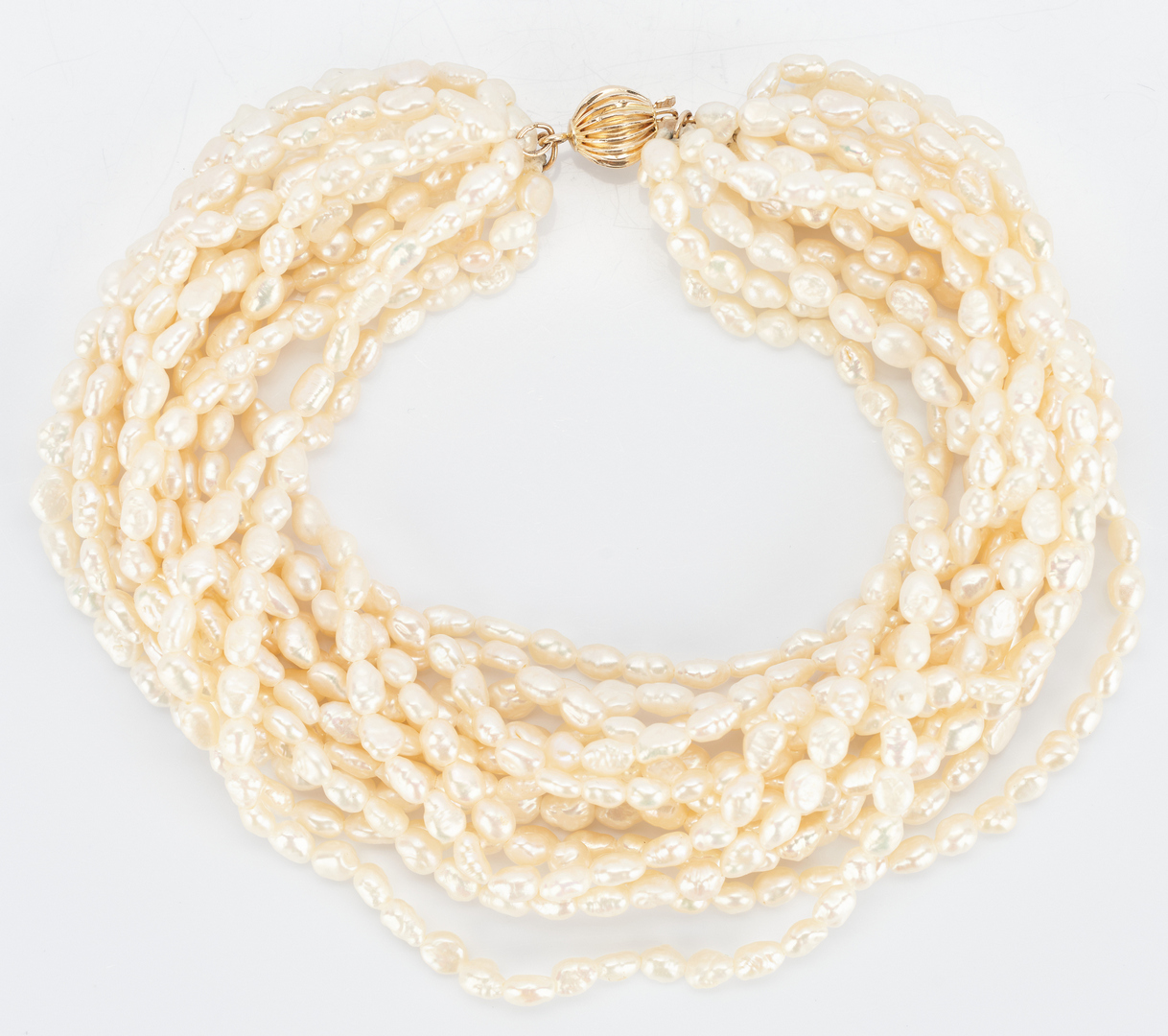Lot 918: Multi Strand Pearl Necklace and Bracelet