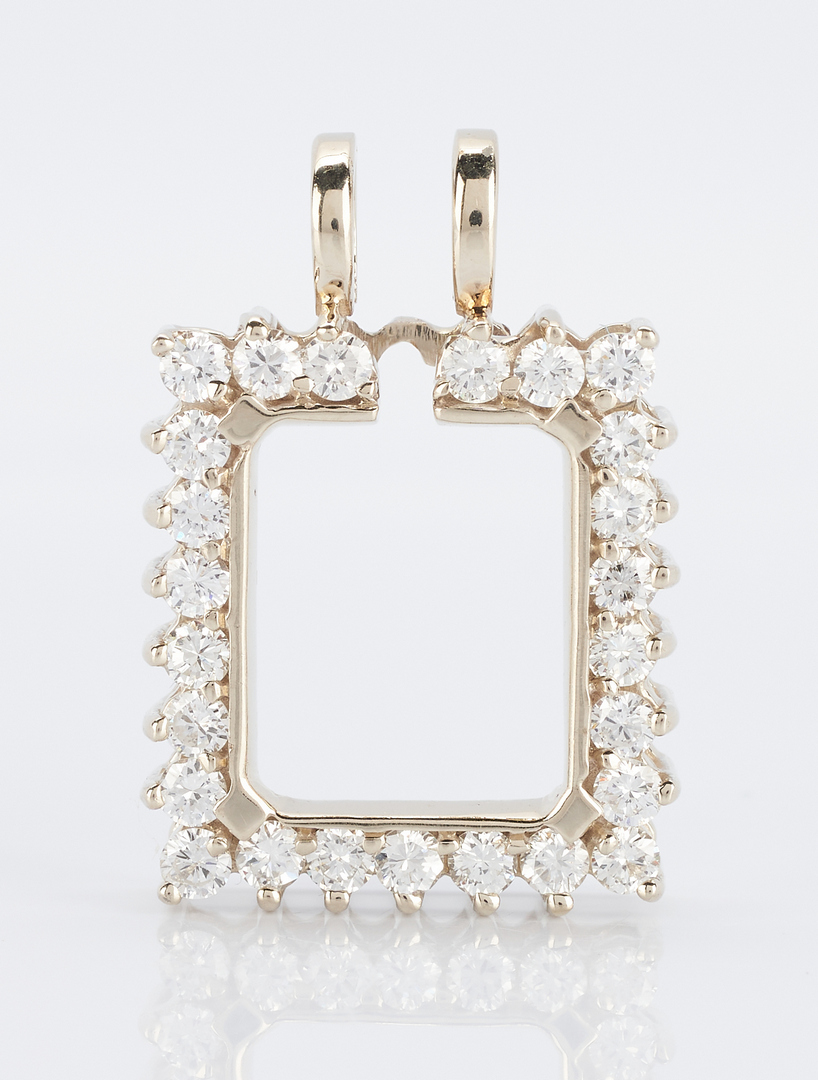 Lot 922: 14K Diamond Pendant Surround