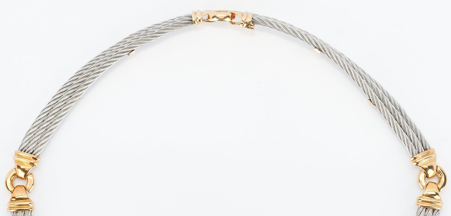 Lot 929: Phillipe Charriol 18K & Stainless Steel Necklace