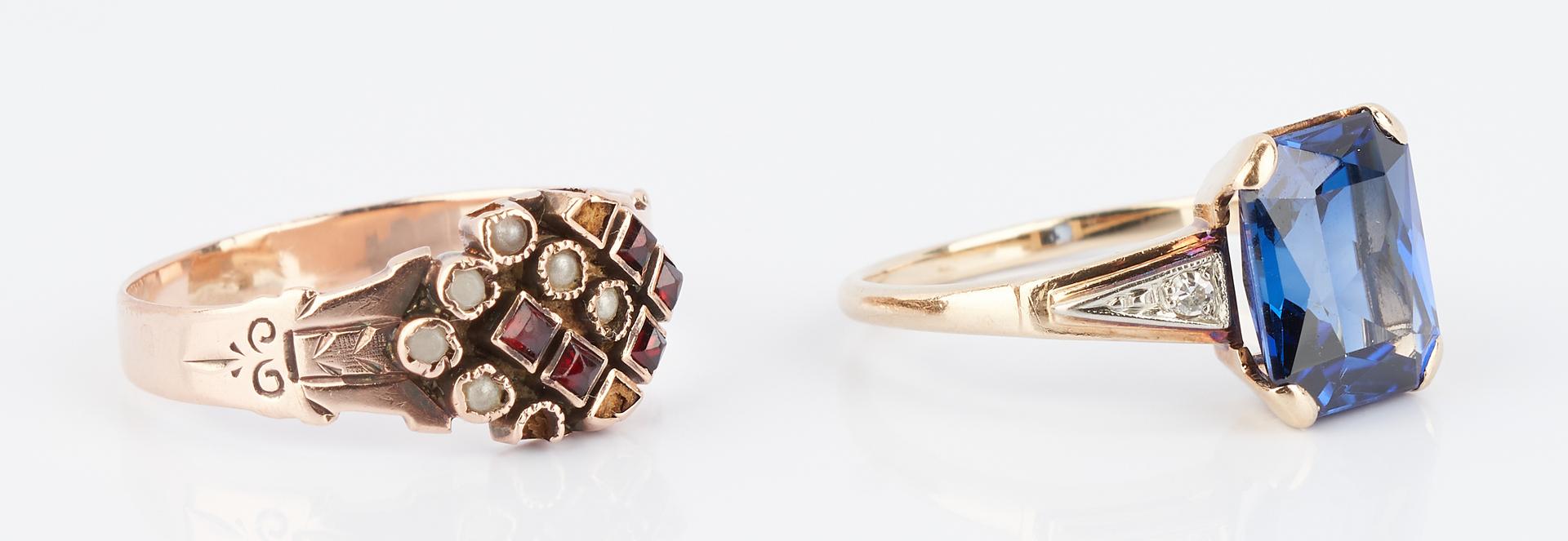 Lot 934: 5 Ladies Rings, Platinum & Gold