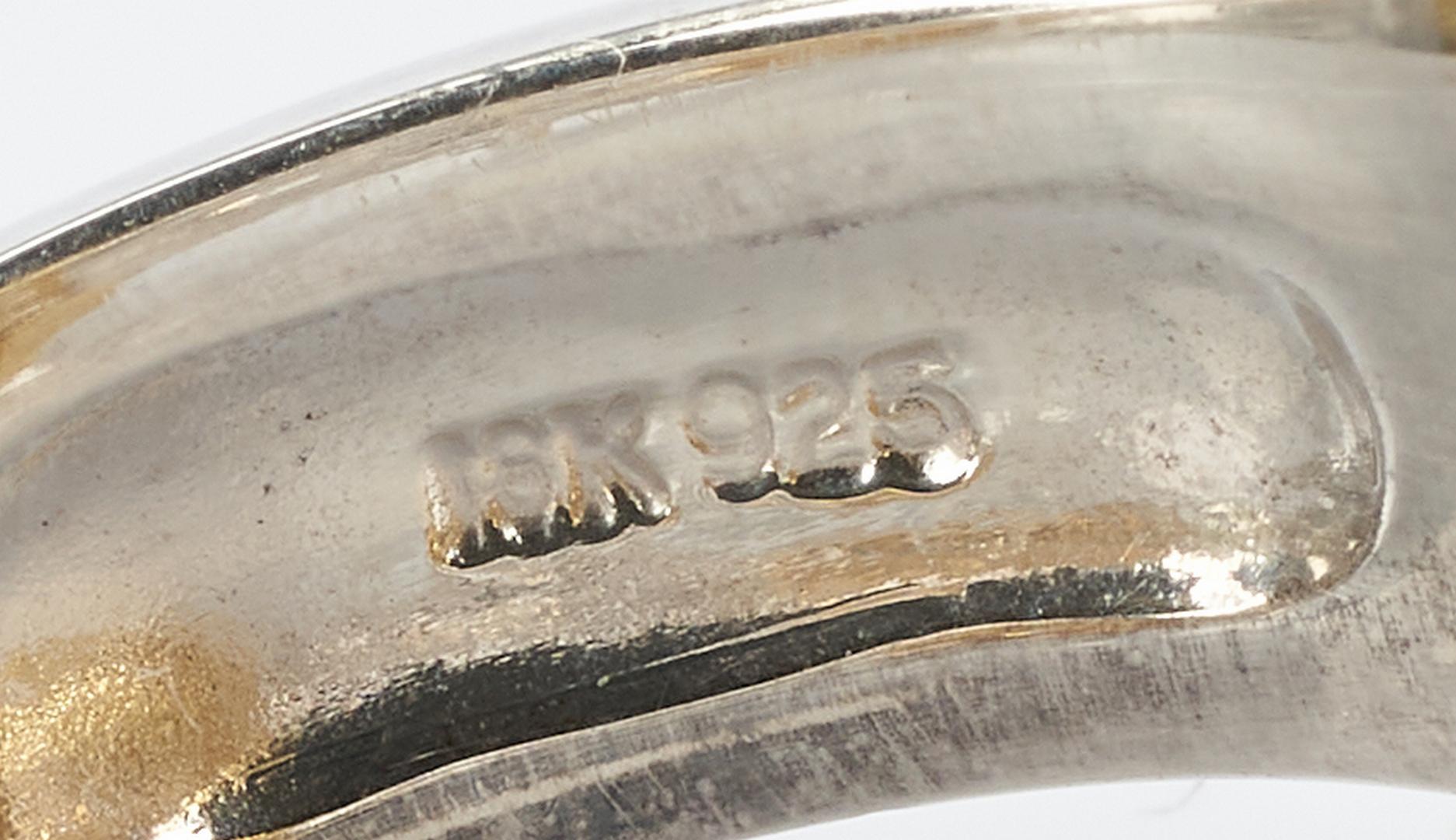 Lot 941: 18K & Sterling Judith Ripka Ring with Diamonds