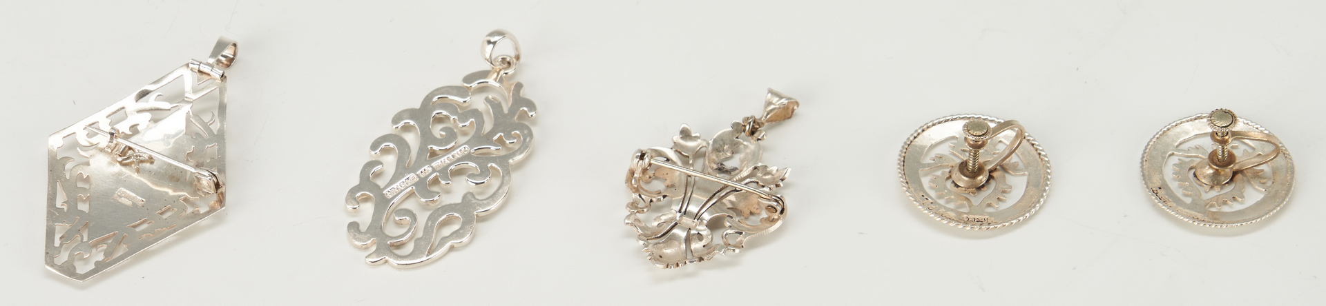 Lot 943: 11 Sterling and Coin Silver Jewelry Pieces