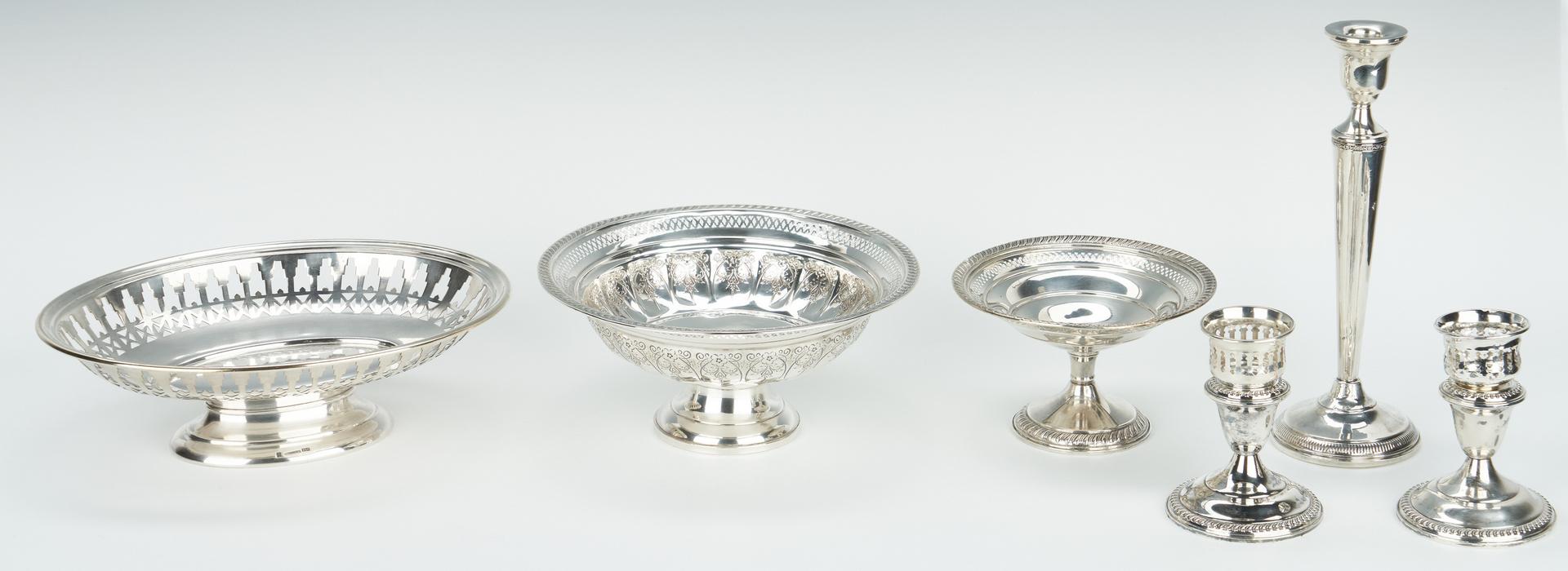 Lot 945: 6 Hollowware Items, incl. Christofle Bowl
