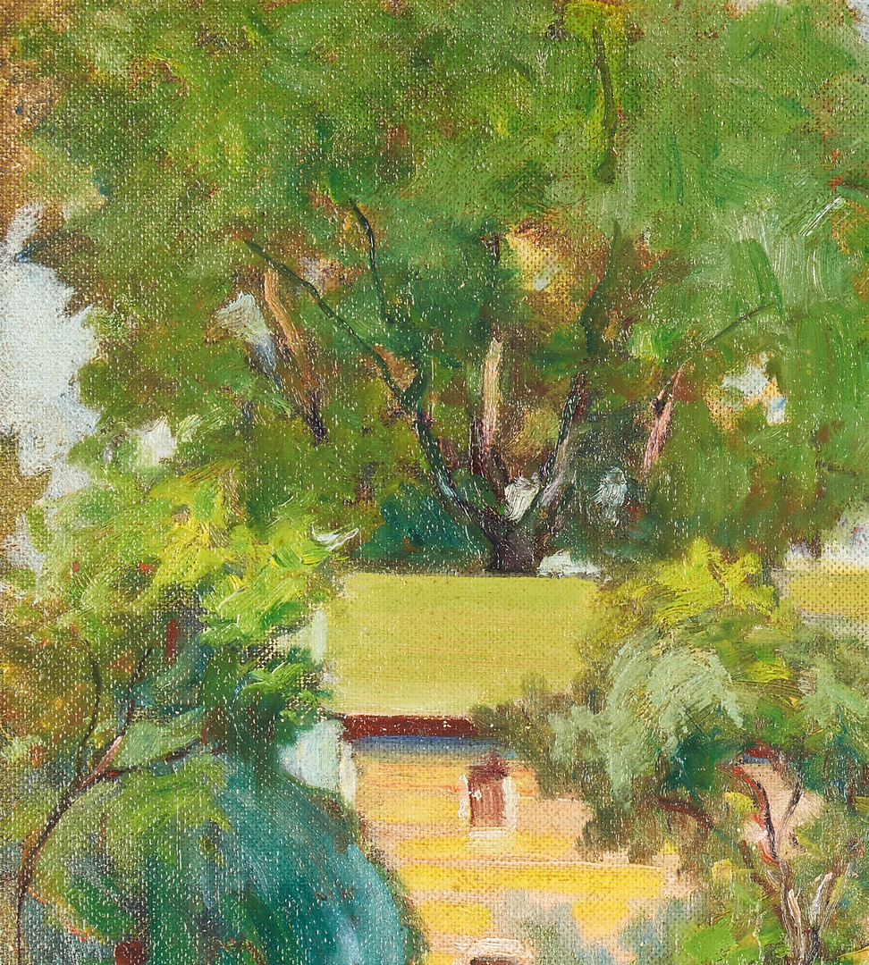Lot 962: Karl Kappes O/B Painting, Landscape with Houses