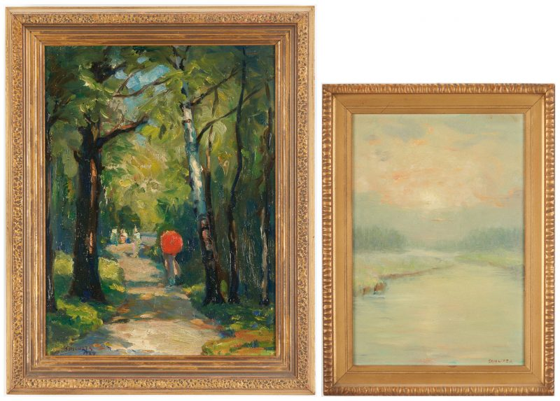Lot 964: 2 Francesco Spicuzza O/B Impressionist Landscapes