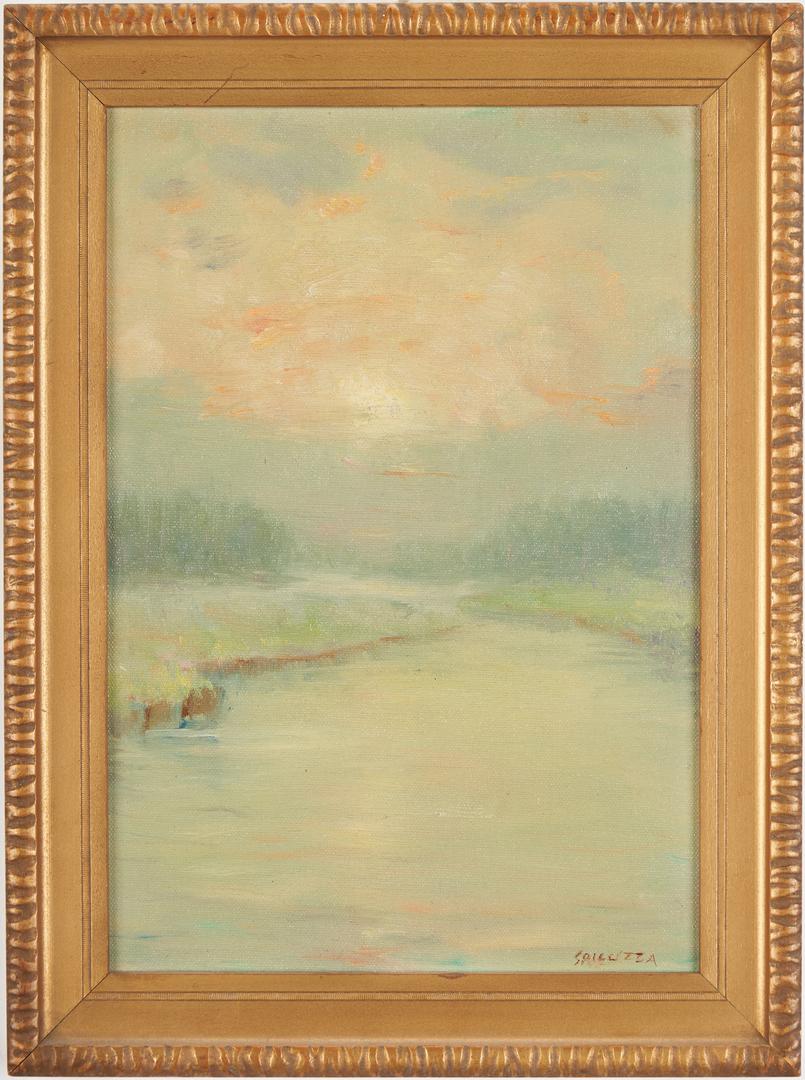 Lot 964: 2 Francesco Spicuzza O/B Impressionist Landscapes