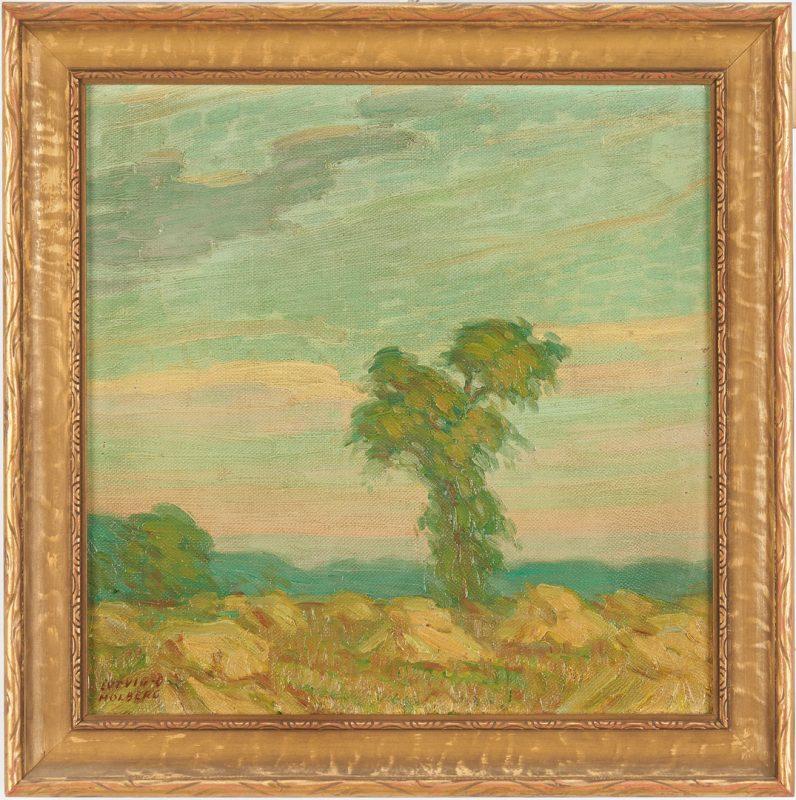 Lot 965: Ludvig Holberg O/C, Impressionist Landscape