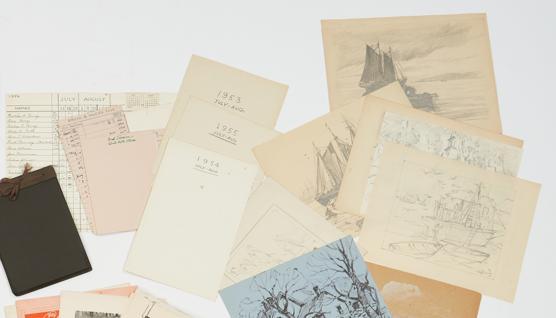 Lot 968: Archive of the Artist Leo Blake, incl. Drawings and Gouache