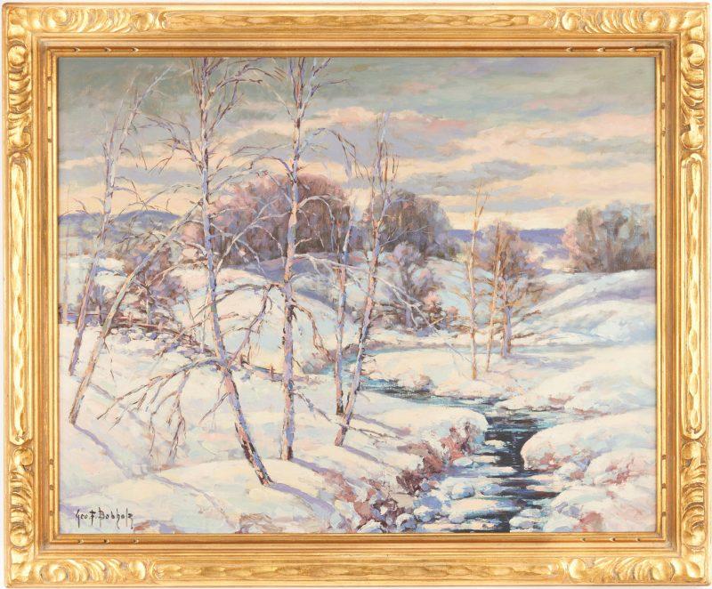Lot 974: George Bobholz O/C, Winter Landscape