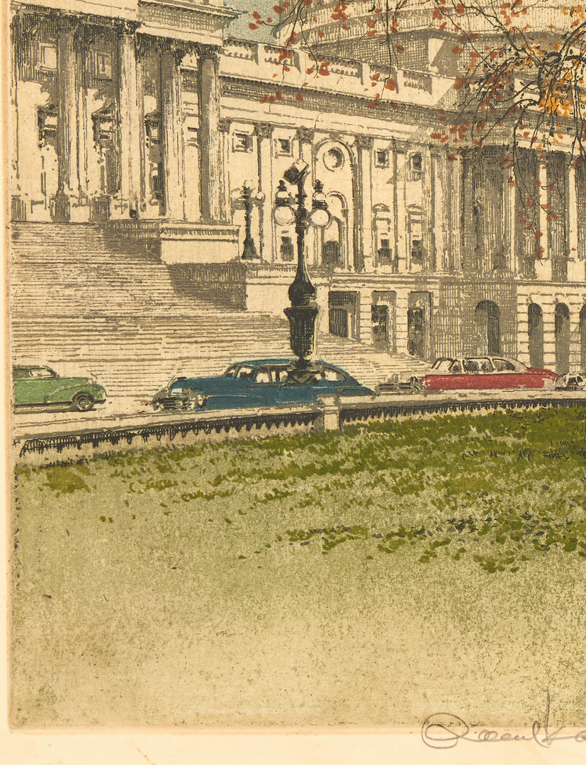Lot 980: 3 Kasimir Etchings incl. US Capitol
