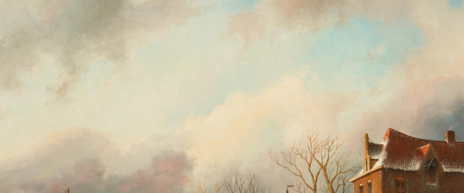 Lot 981: 2 Hartger Van Brakel O/B European Winter Landscapes
