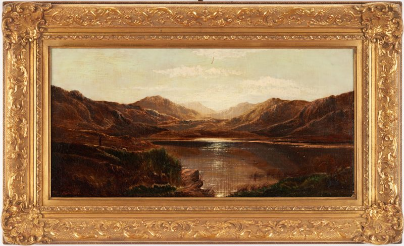 Lot 982: Charles R. Leslie O/C British Lake Scene
