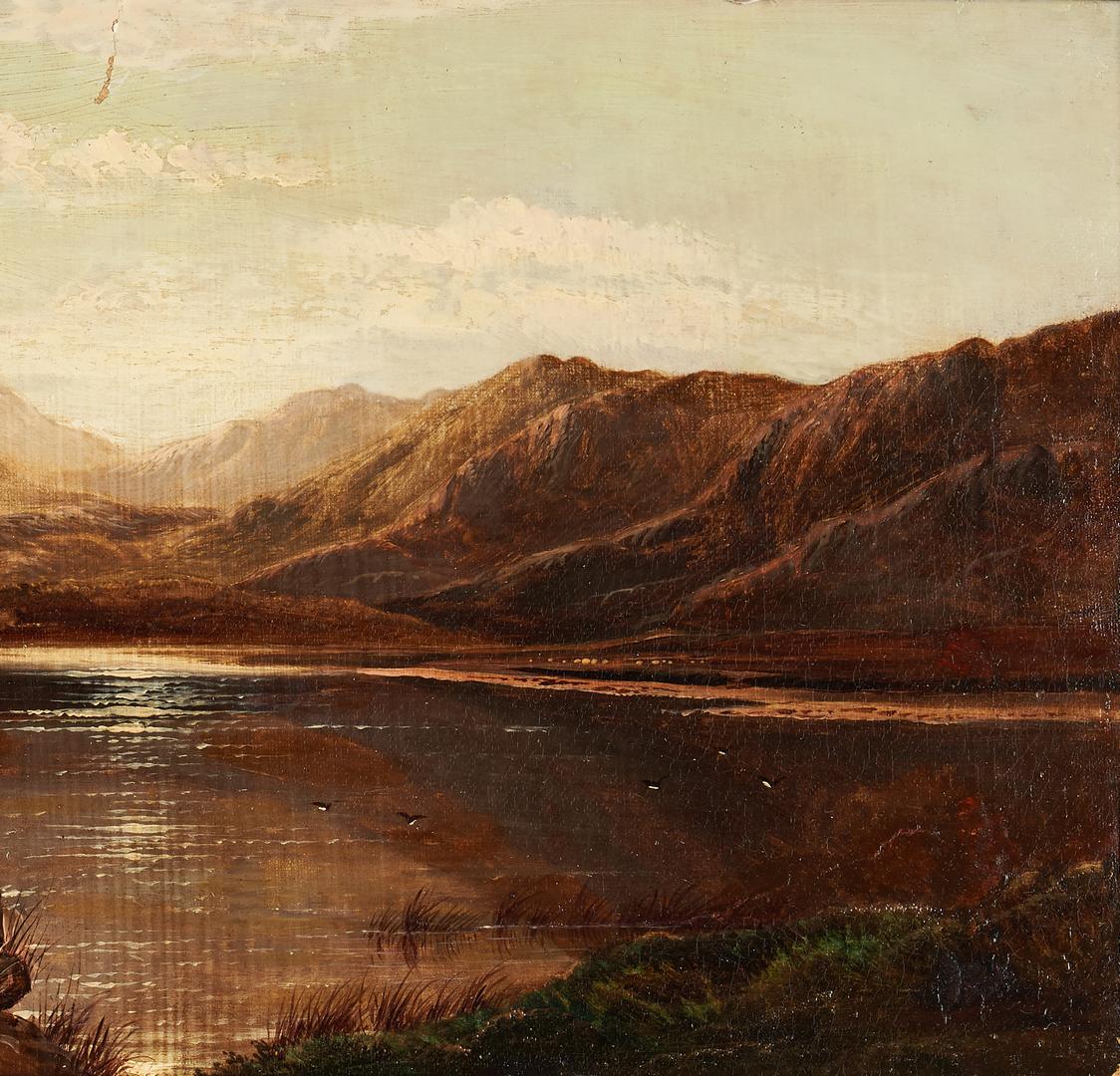 Lot 982: Charles R. Leslie O/C British Lake Scene