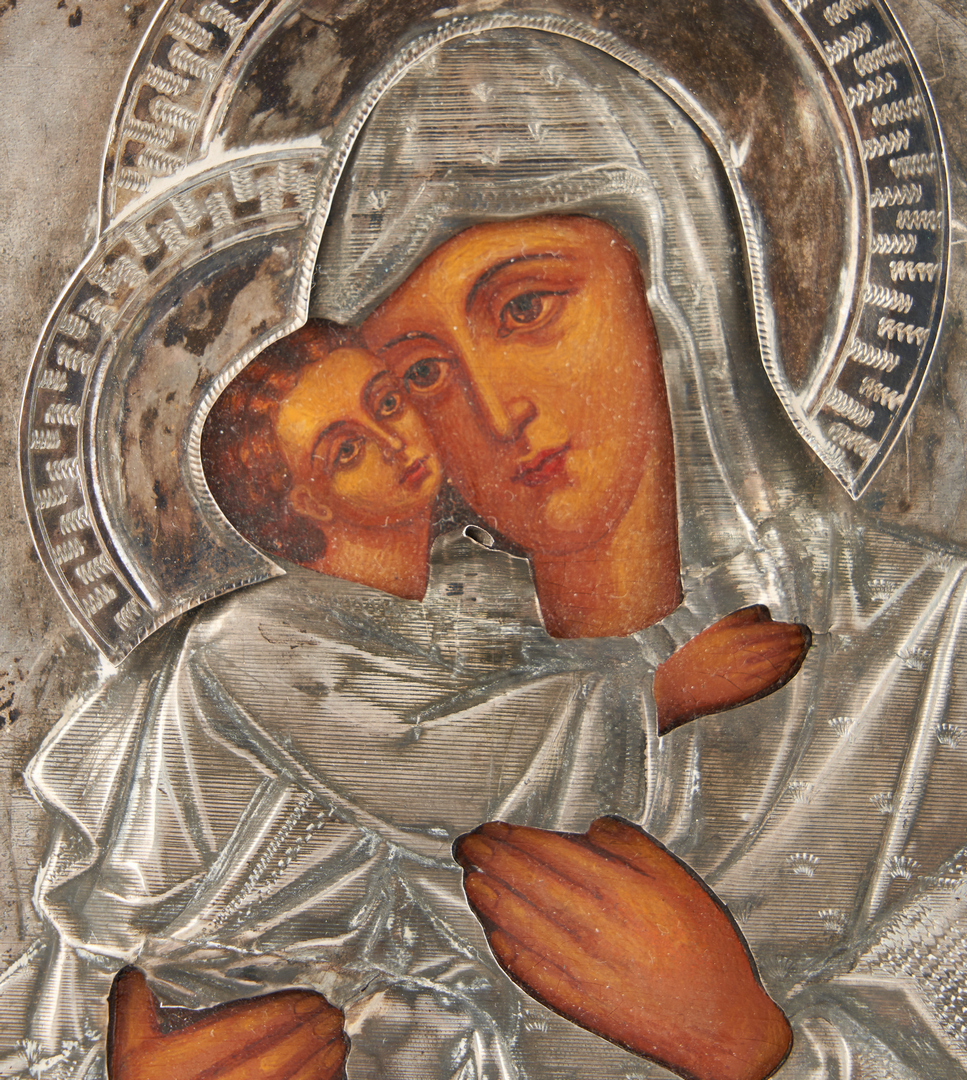 Lot 993: Russian Icon, Madonna and Child