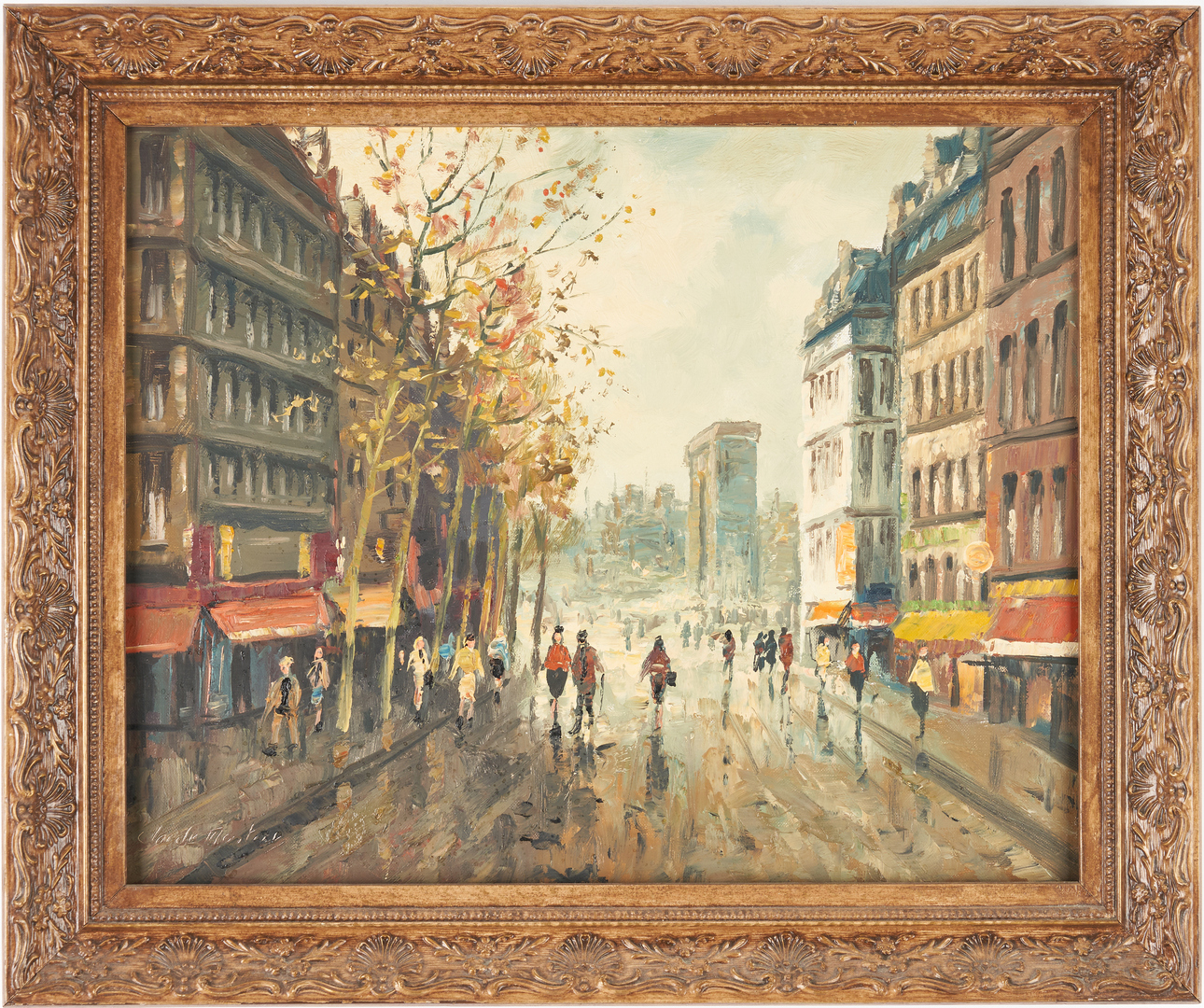 Lot 997: 2 European O/C Street Scenes incl. Claude Montier