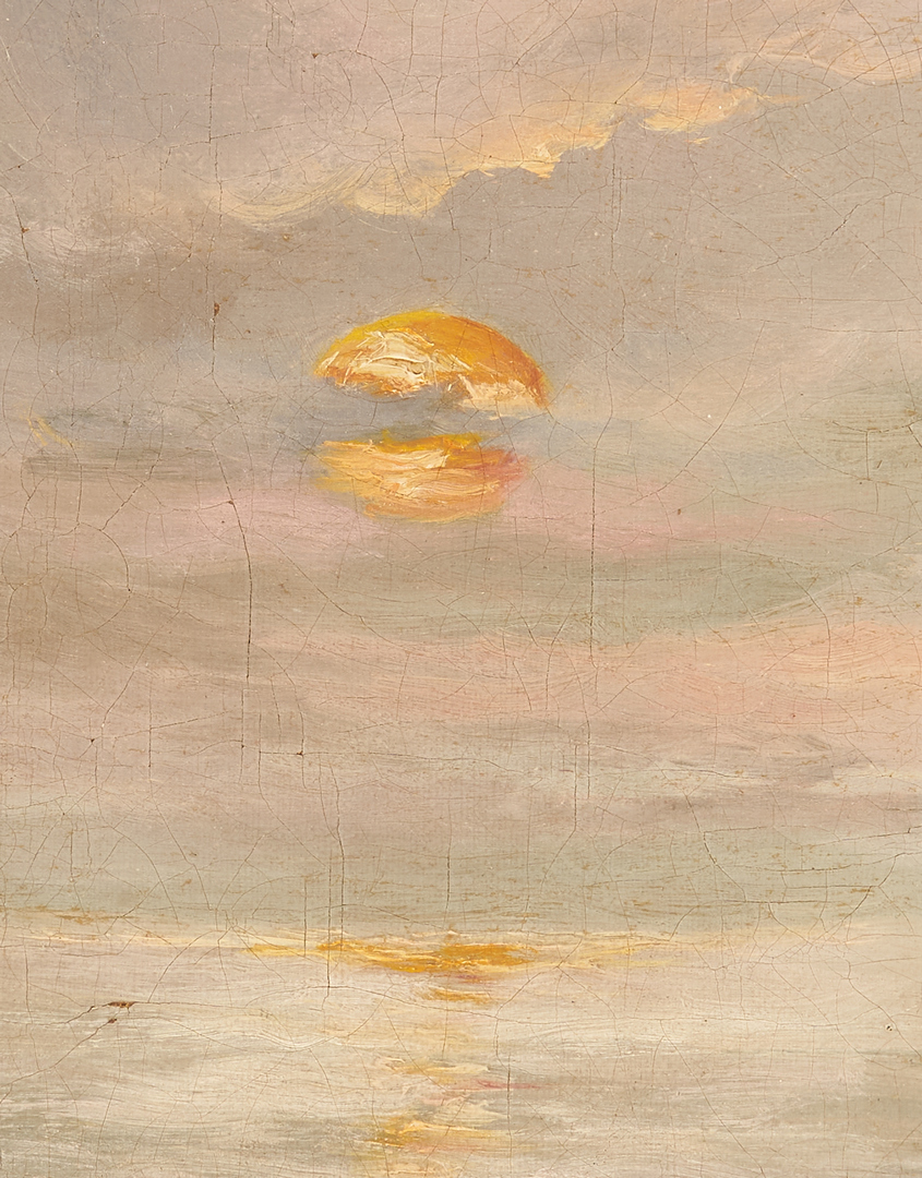 Lot 999: 2 European O/C Maritime Paintings