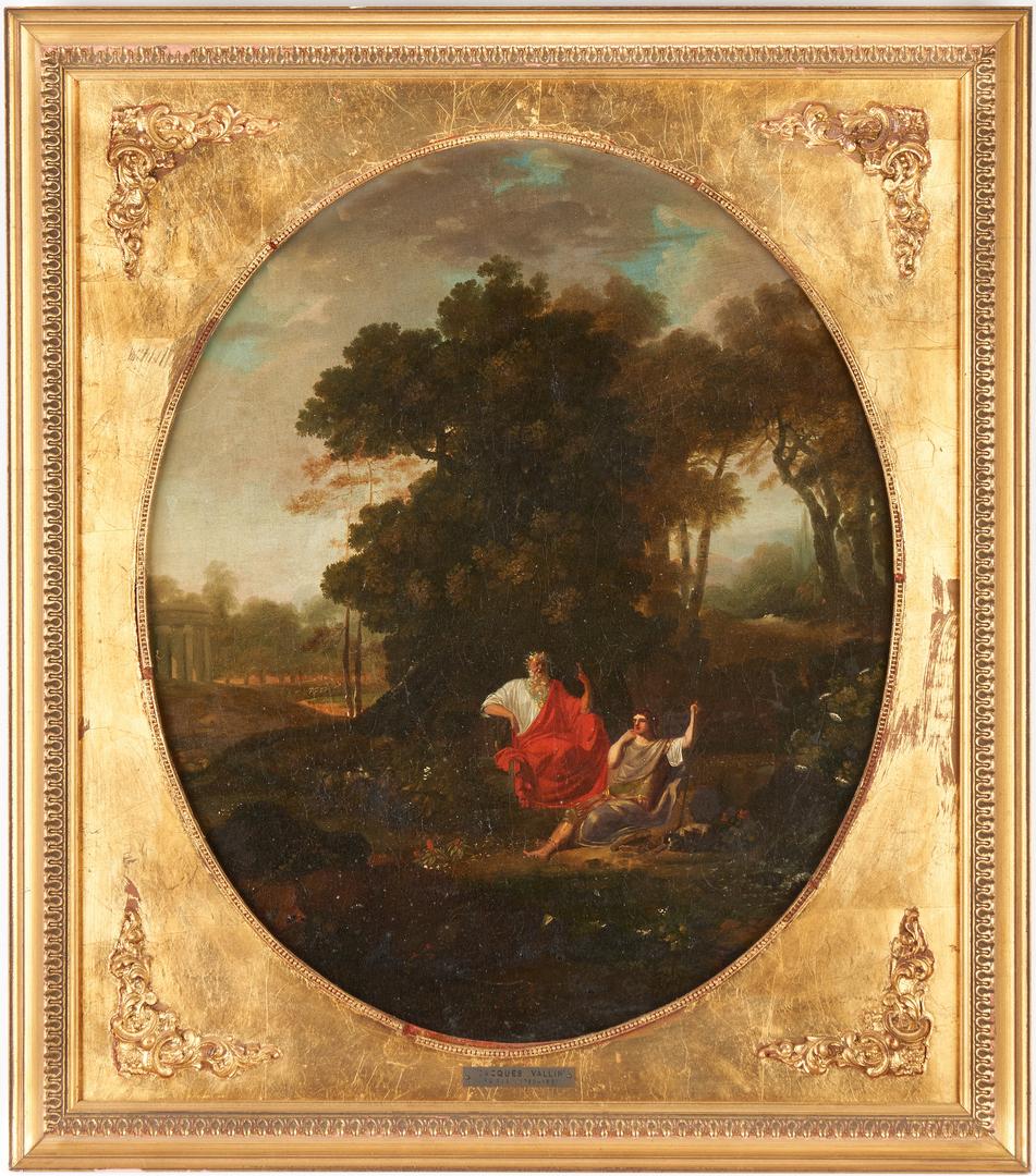 Lot 99: Jacques Vallin Oil on Canvas Classical Landscape
