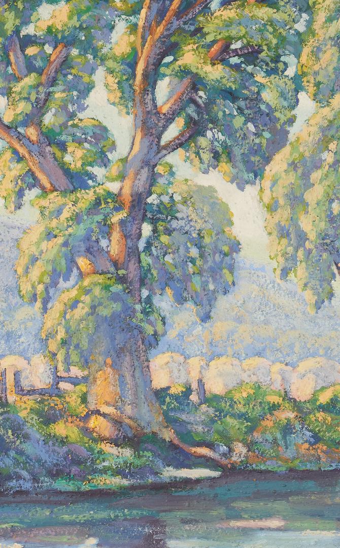 Lot 1000: Missouri School, 20th C. Impressionist Landscape