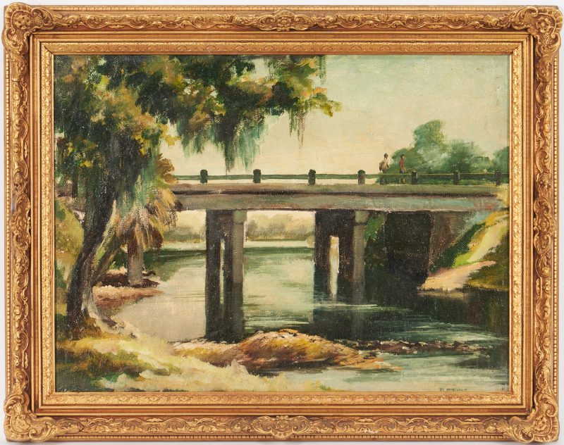Lot 1001: Ronald Anderson O/B Southern Landscape Painting, Suwanee River