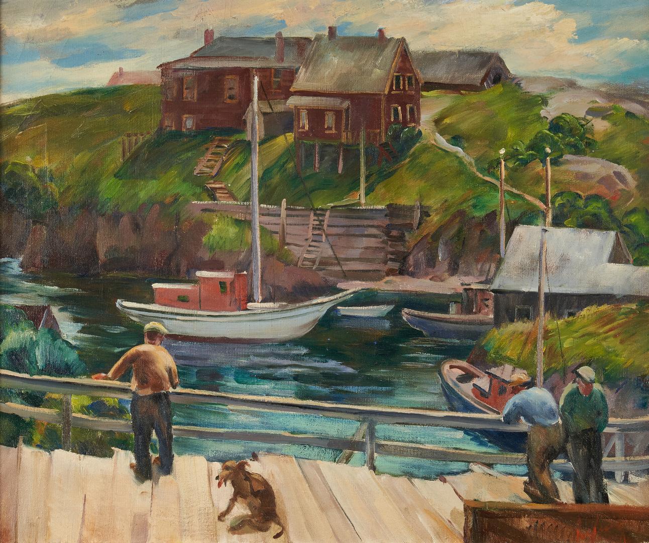 Lot 1004: 2 Marine Paintings, incl. Arthur Helwig & Reginald Grooms