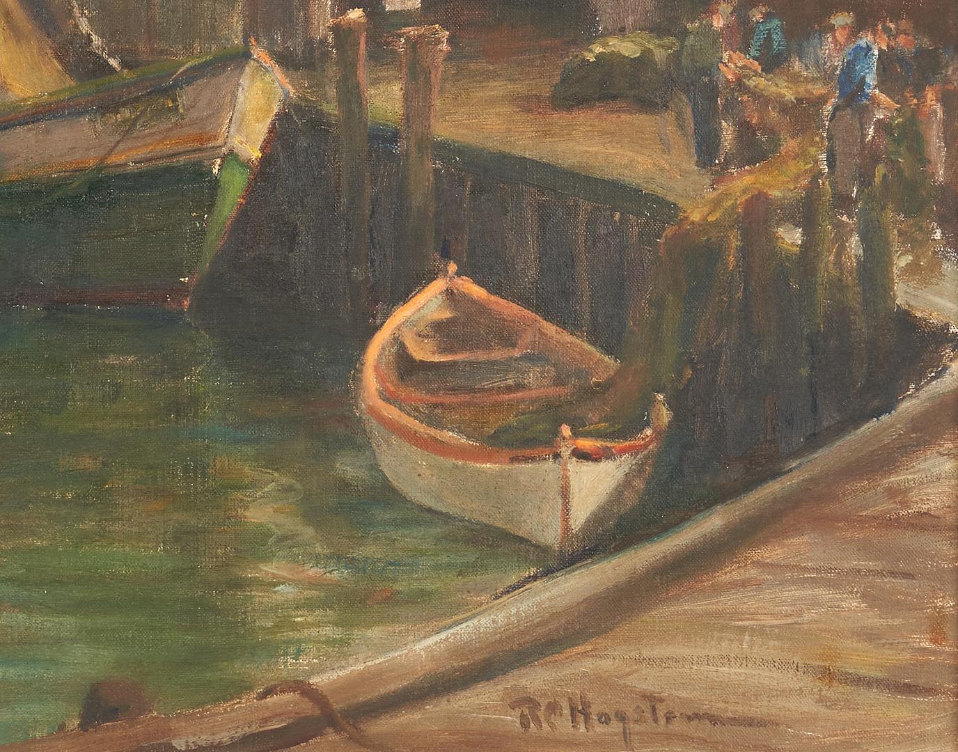 Lot 1007: Ruth C. Hagstrom O/C Painting, Harbor Scene