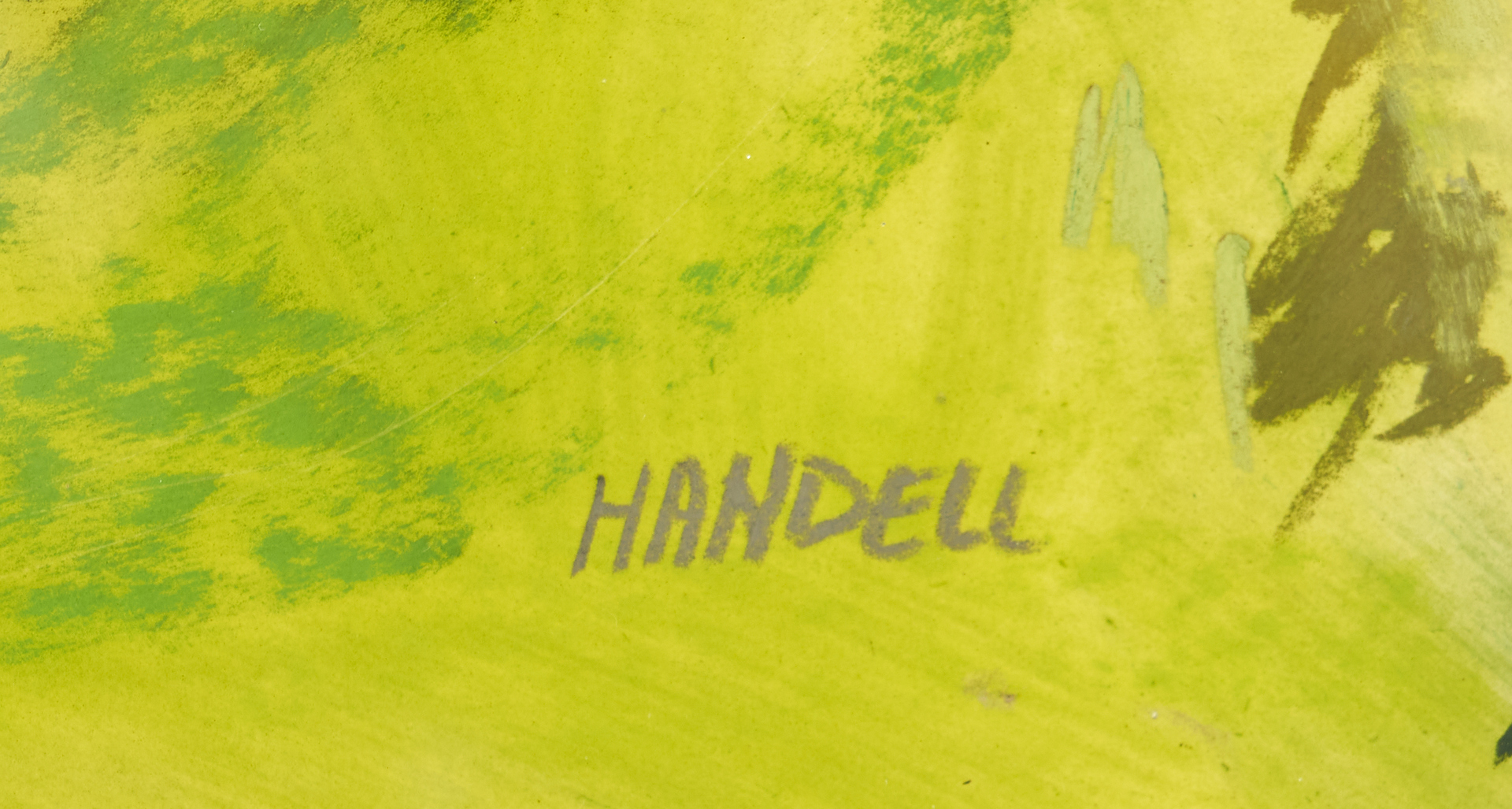 Lot 1013: Albert Handell Pastel Study of a Tree