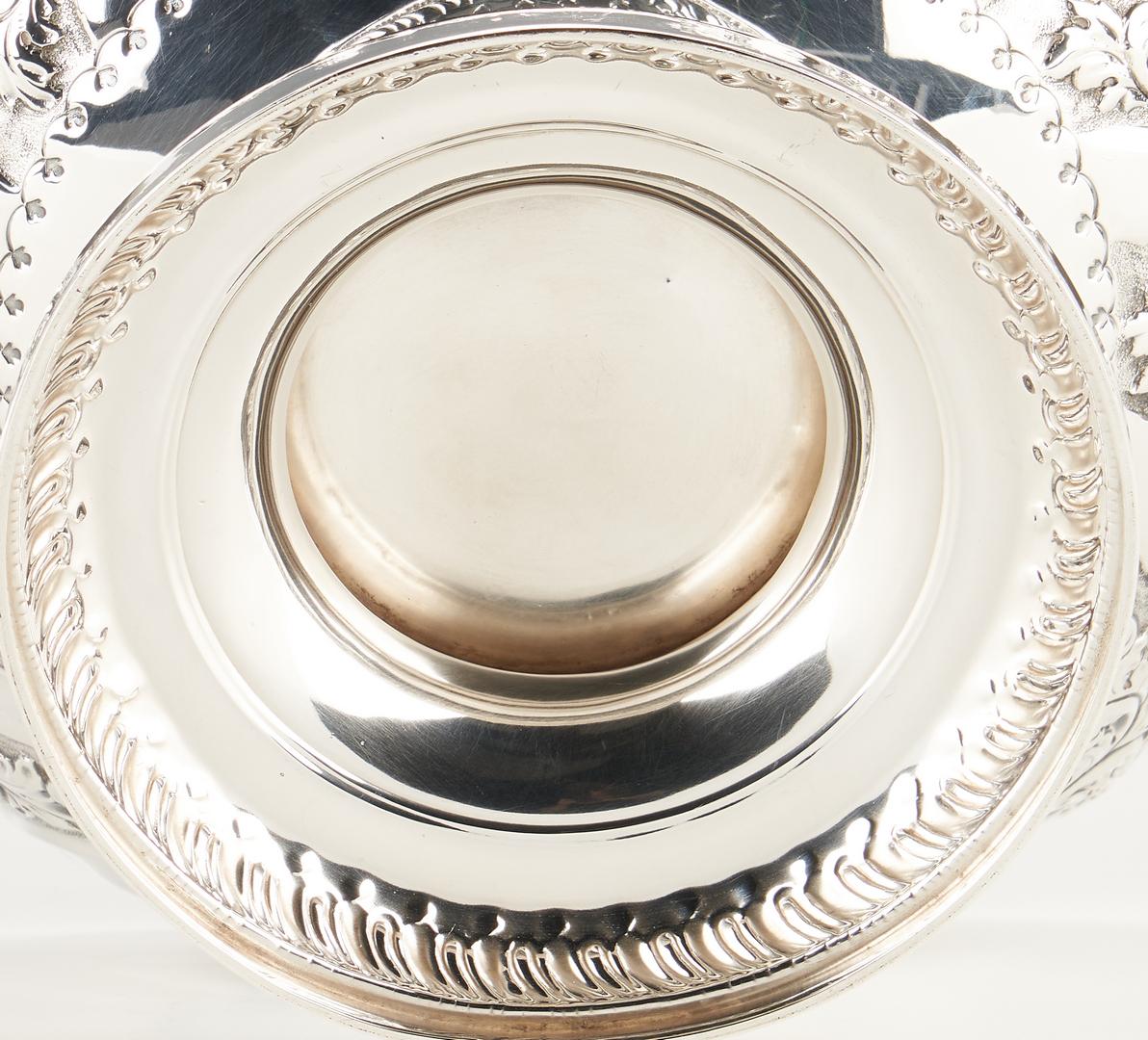Lot 101: English Victorian Sterling Center Bowl, Banon provenance