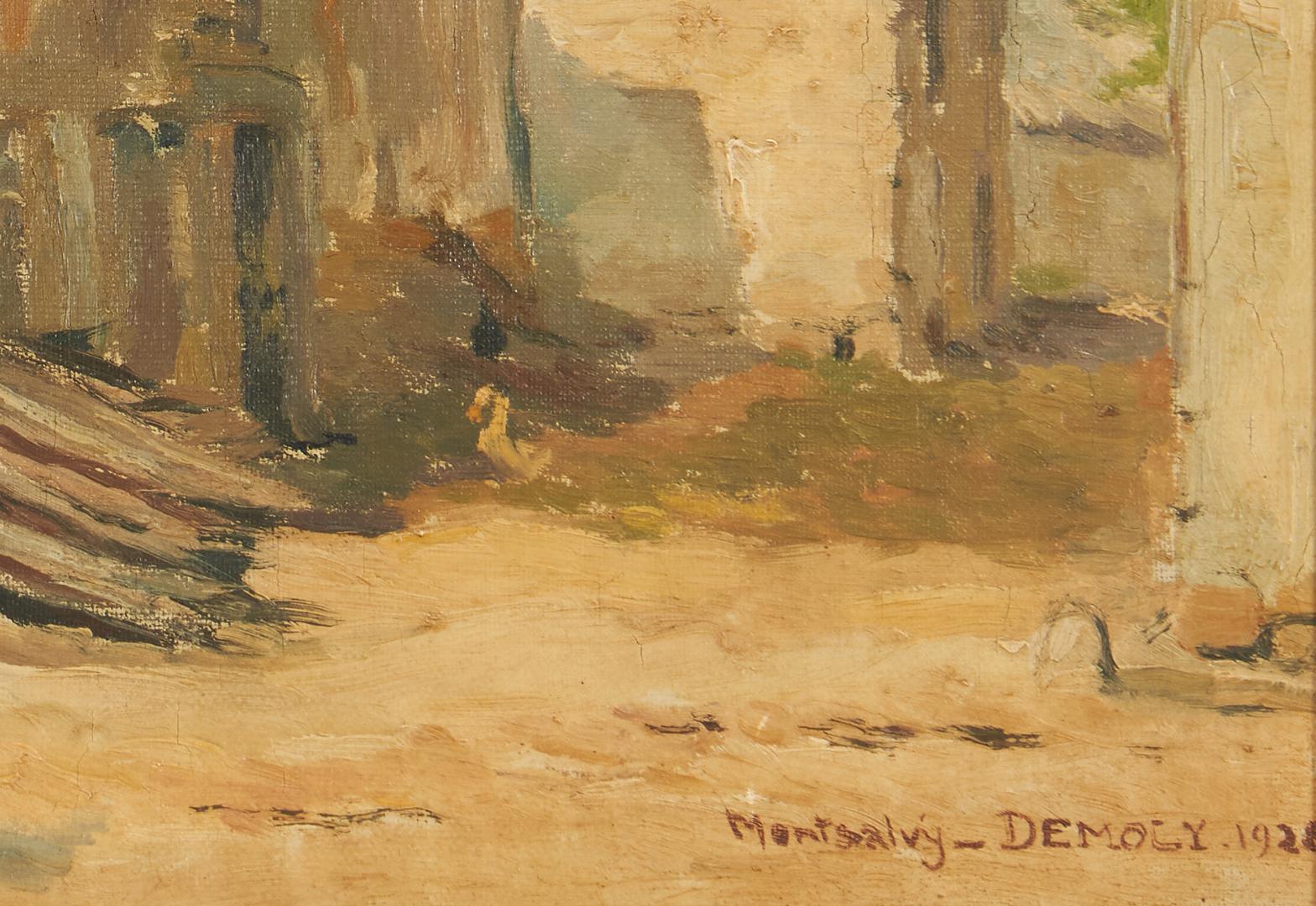 Lot 1020: Continental School O/C Landscape, Montsalvy