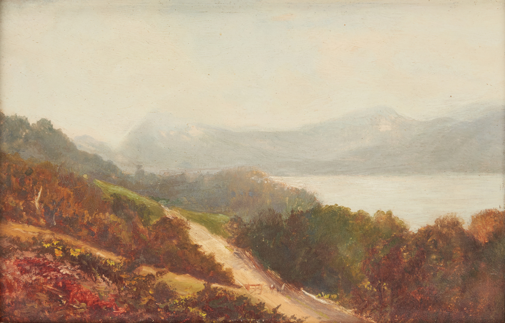 Lot 1021: Attr. George Hyde Pownall O/B Landscape, Buttermere