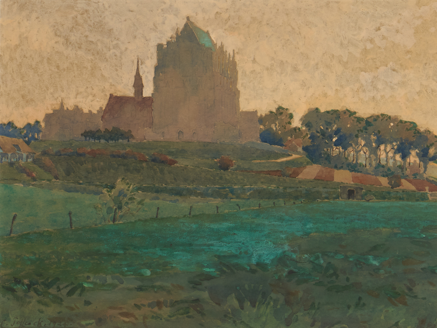 Lot 1022: Charles Augustine Castleford Jeffcock Watercolor