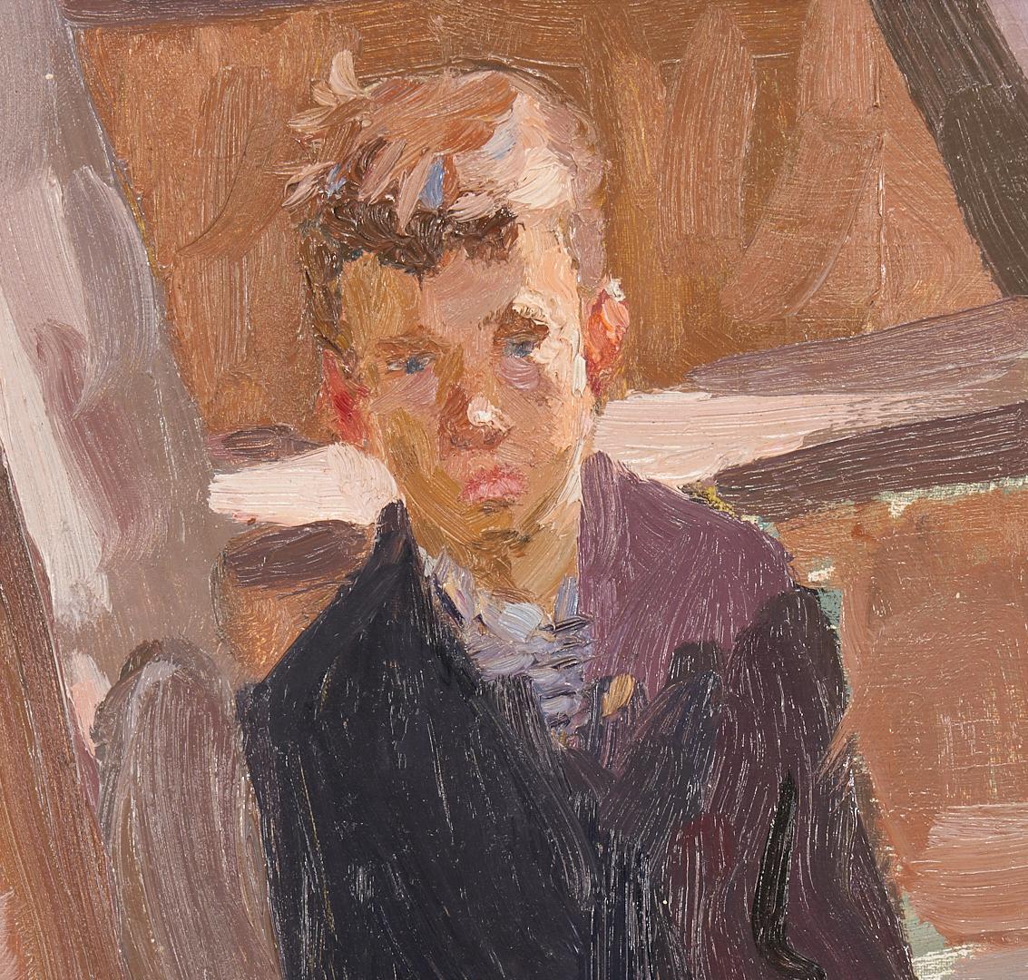 Lot 1025: Russian Impressionist Portrait of a Boy