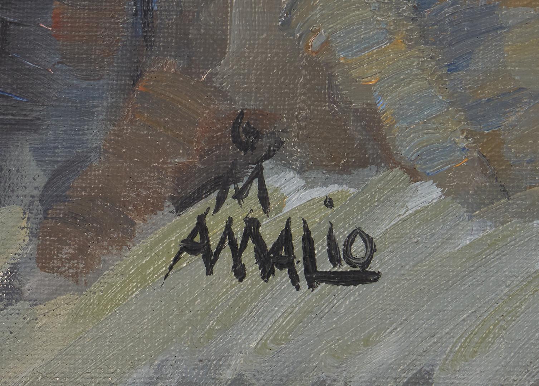 Lot 1026: Amalio Garcia O/C, Portrait of a Boy