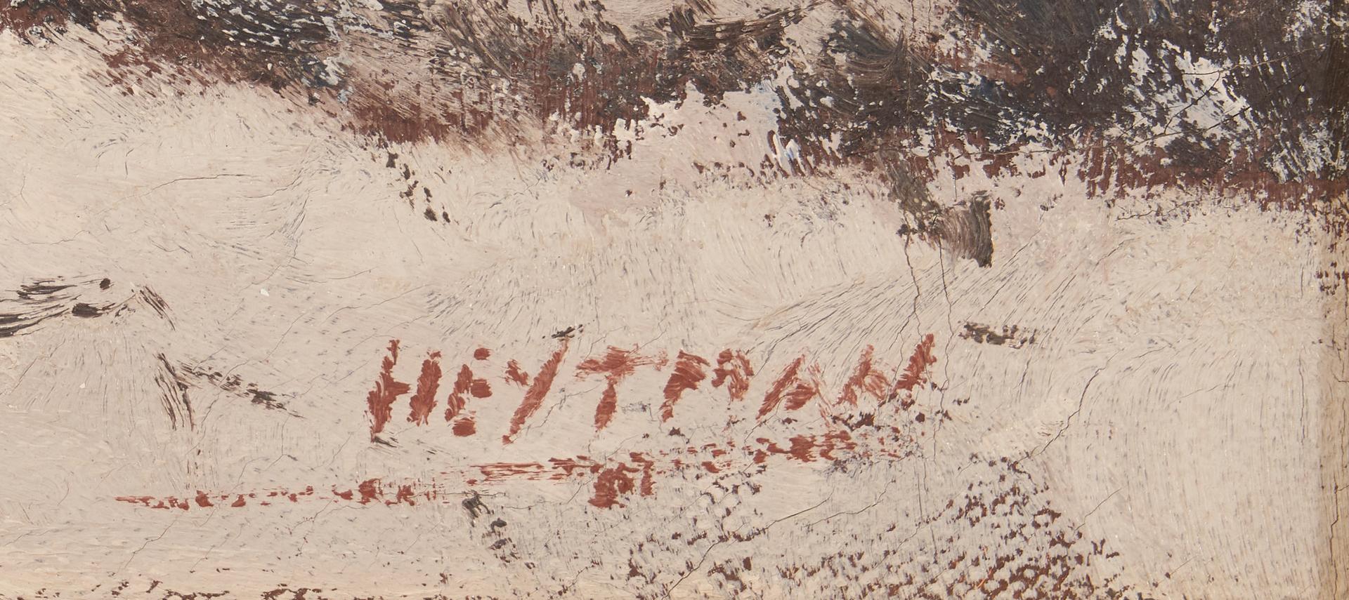 Lot 1027: Attr. Willem Heytman O/C Winter Landscape