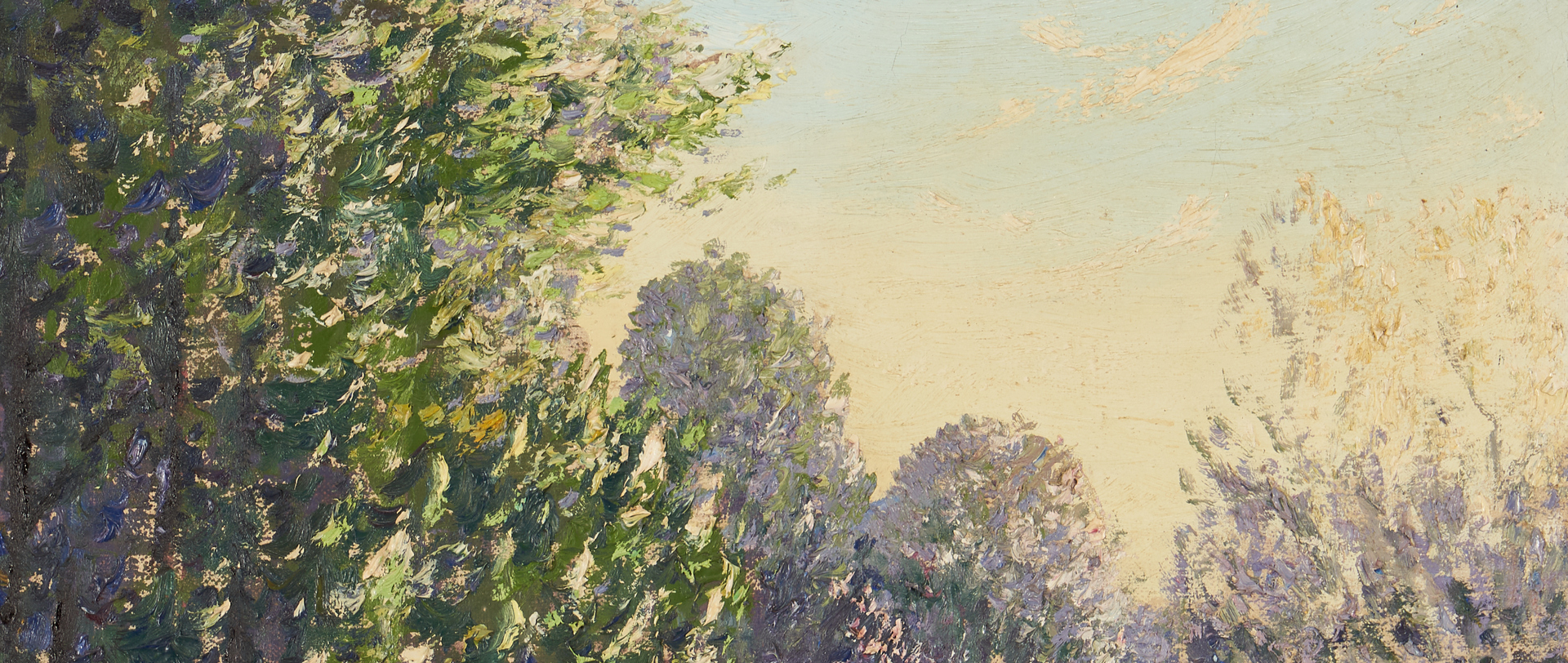 Lot 1029: Norman Lloyd O/C Landscape Painting, Country Road
