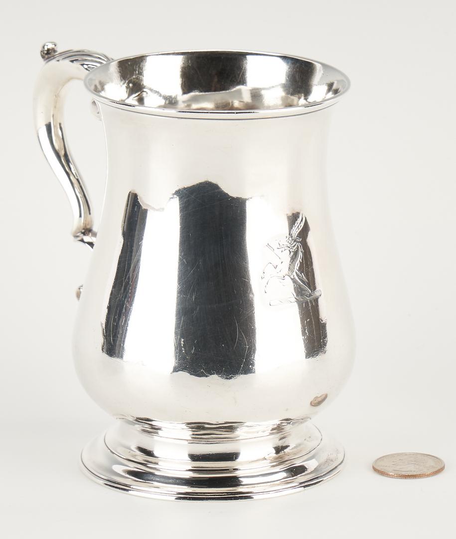 Lot 102: George III Crested Sterling Mug or Tankard, Franz Crump