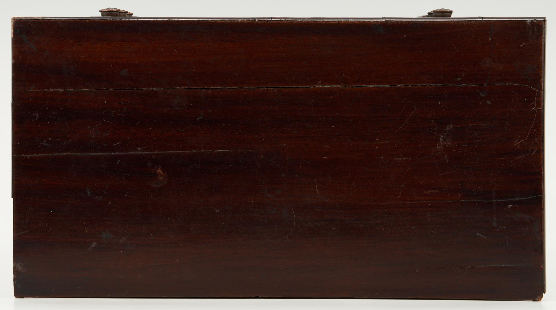 Lot 1030: English Mahogany Miniature Inlaid Chest