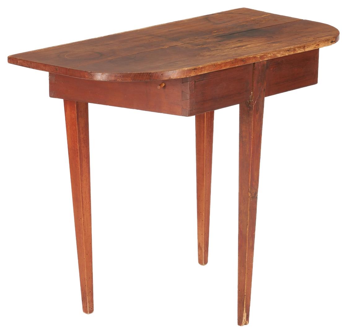 Lot 1035: Primitive Console Table & Signed Dropleaf Pembroke Table, 2 Items.