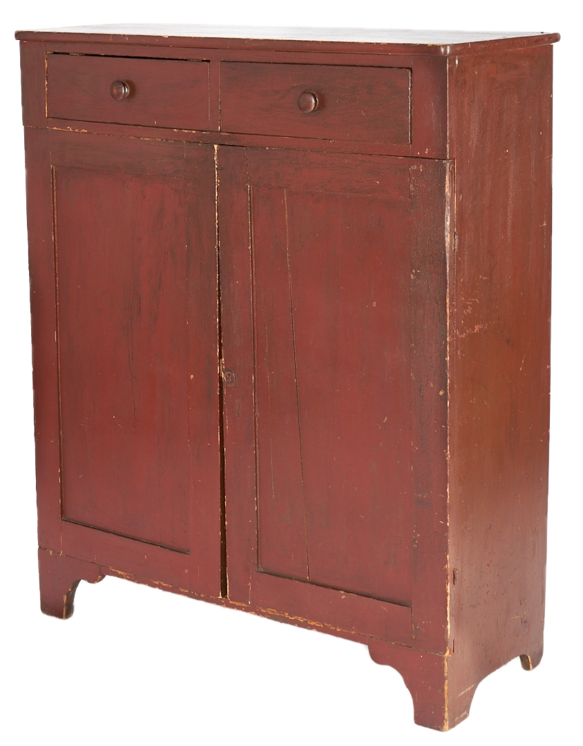 Lot 1036: Red Painted Jelly Cupboard