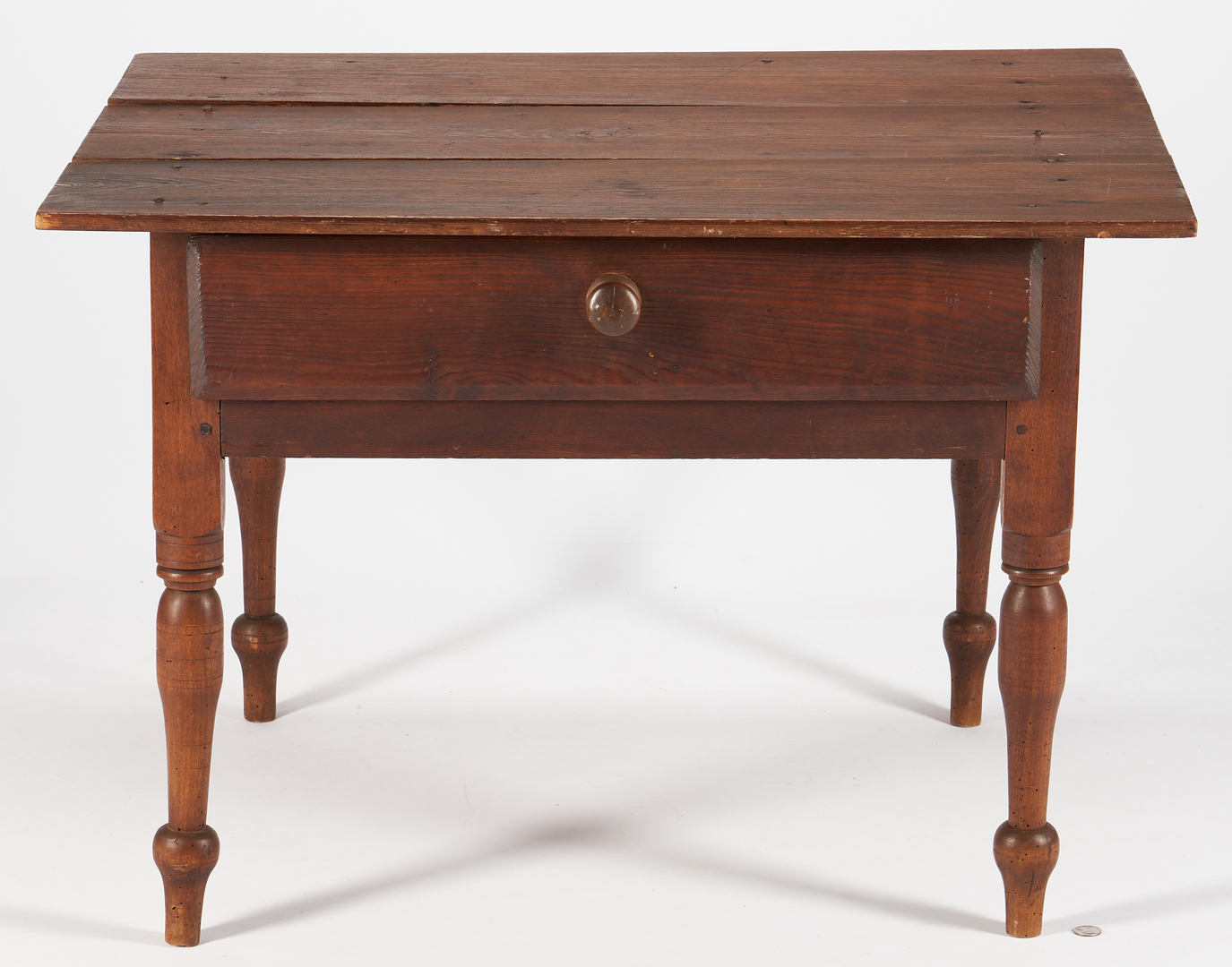 Lot 1038: Southern Vernacular Turned Leg Low Table